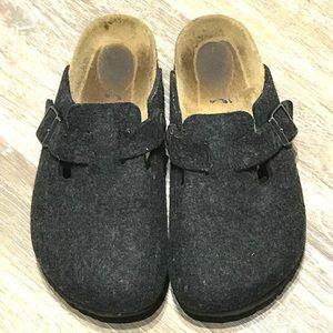 Birkenstock Boston Wool Soft Foot Clogs In